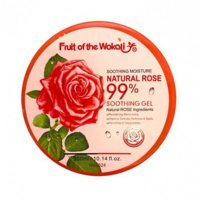 Гель для лица и тела Fruit Of The Wokali Soothing Moisture Natural Rose 99%