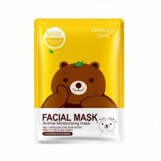 Маска для лица Bioaqua facial mask animal moisturizing mask bear