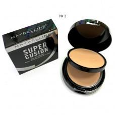 Пудра для лица Maybelline super cusion 2 in 1 powder №3