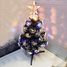 Искусственная новогодняя ель с лампочками 90 см